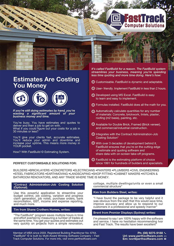 Builders Software | Residential Estimating Solution | Fast